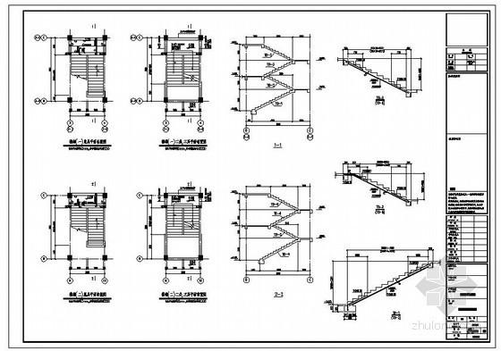 某办公楼楼梯节点构造详图