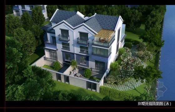 [昆山]某高档苏式联体别墅室内设计方案(含效果图)