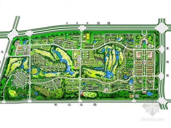 [淄博]公园内居住区景观概念设计方案