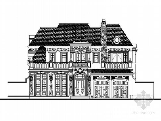 [北京]某二层欧式风格独栋别墅建筑设计扩初图