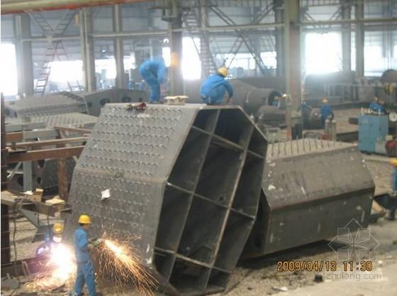 超厚八边型钢箱柱加工及焊接施工工法