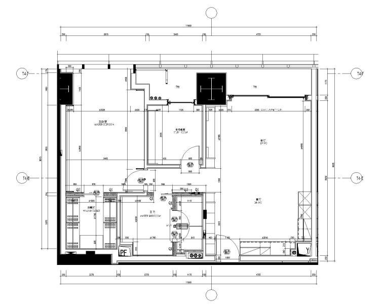 [SCDA&如恩]华润公寓现代风格一居室样板间室内装修施工图&效果图&物料表(CAD、JPG、PDF)