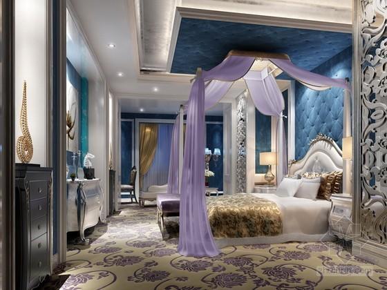 奢华新古典风格卧室3d模型下载