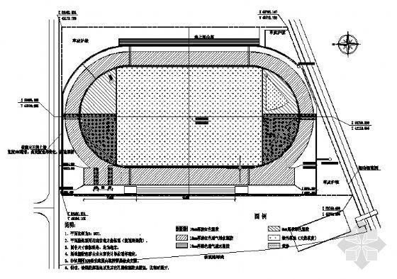 某塑胶田径场建筑施工图