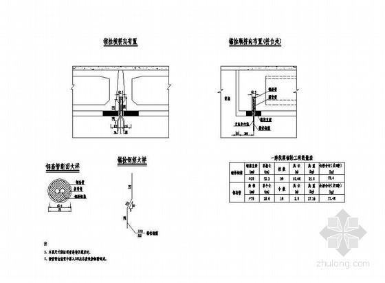 3×10米预应力混凝土空心板抗震锚栓构造节点详图设计