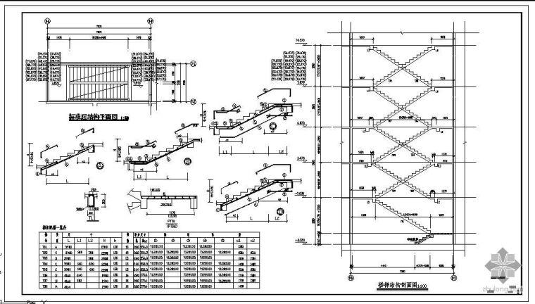 某剪刀楼梯节点构造详图