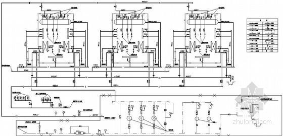 某集中供热锅炉房主体设计图纸-热力系统图