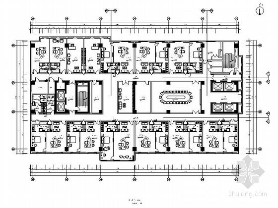 [石家庄]国有刊物出版中心现代办公楼装修施工图(含效果)