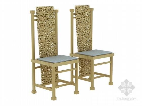 时尚大气椅子3D模型下载
