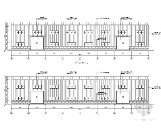 两层钢框架厂房结构施工图(含建施)