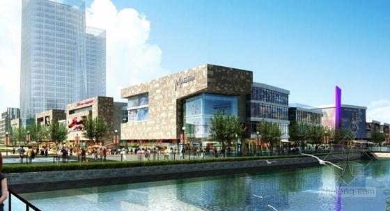 [江苏]景观式企业总部双塔大厦建筑设计方案文本(知名地产含CAD)-景观式企业总部双塔大厦建筑效果图