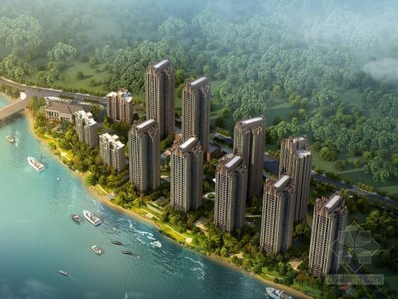 [重庆]某artdeco风格住宅小区规划设计说明(含效果图)