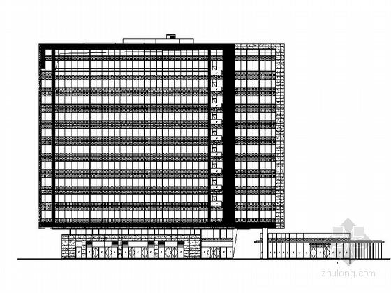 [上海]城市核心区地块高层商业建筑设计施工图(知名设计院 立面设计新颖)