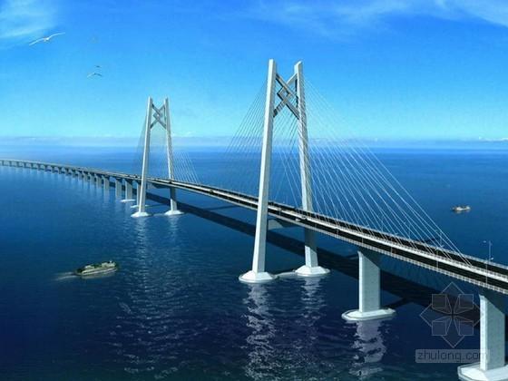 [广东]著名跨海大桥中国结索塔斜拉桥及钢箱梁桥土建工程技术标398页附52张方案图