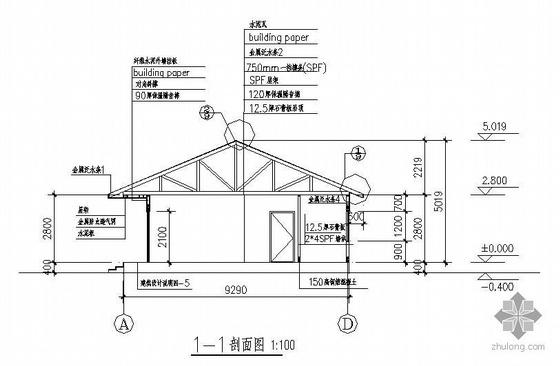 四川某一层80平米木结构住宅建筑结构设计图