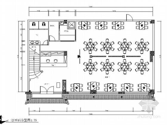 [重庆]某双层中式川菜馆室内装修施工图