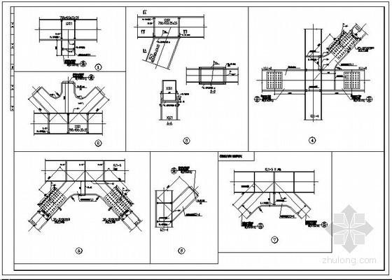 某带支撑钢框架—钢桁架电梯井结构设计图
