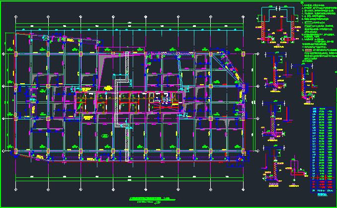 25层华润框架核心筒商业办公楼结构施工图_1