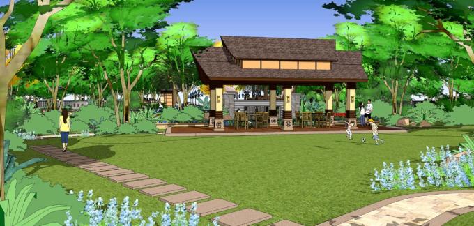 庭院草坪景观效果图