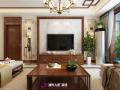 财富中心装修三居室新中式风格