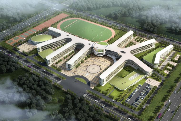 [江苏]城南新区九年一贯制学校及附属幼儿园建筑设计方案文本