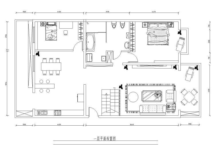 一套家装样板房室内施工图(附实景图)
