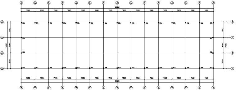 单层单山单跨门式刚架厂房工程施工图(CAD,8张)