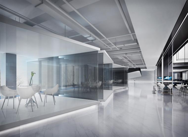 [上海]知名地产御河硅谷售楼空间设计施工图(附效果图+软装方案)-盒子2