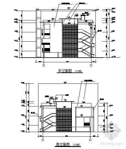 某四层钢结构办公楼建筑施工图-2