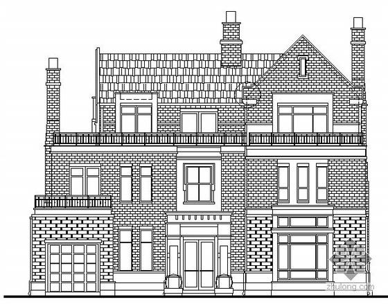 英式风格别墅三层独栋别墅建筑结构水电施工图