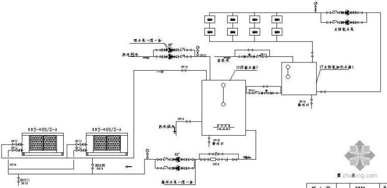 热泵&太阳能组合系统流程图
