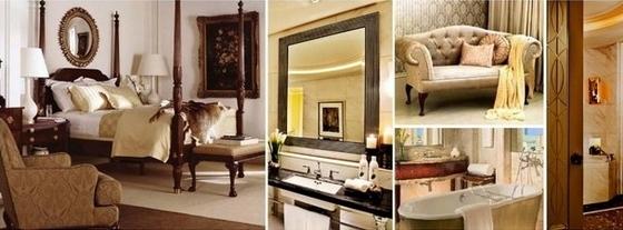 [佛山]高层住宅区奢侈欧式四居室样板间设计方案主人睡房及浴室意向图