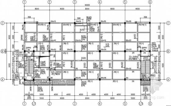 3层医药仓储基地仓库框架结构图
