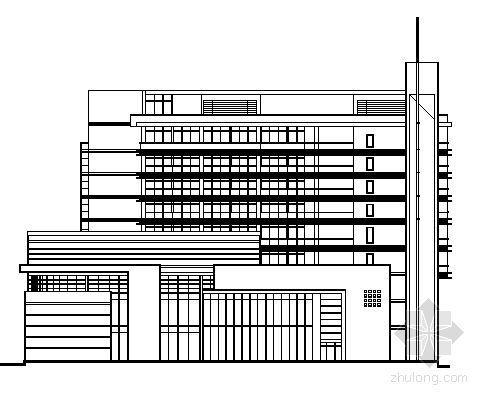 东莞市某九层商业大厦建筑报建图