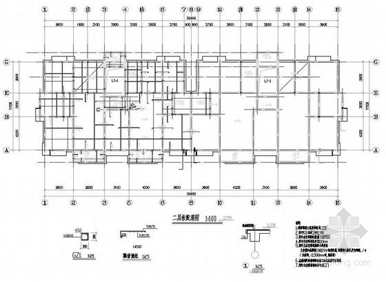 六层异形柱框架住宅楼结构施工图(跃层)