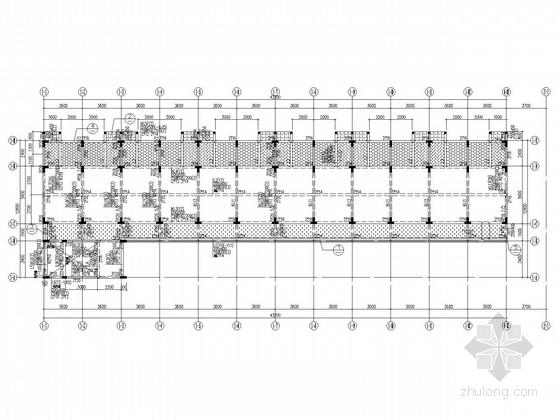 坡屋面5层框架宿舍结构施工图
