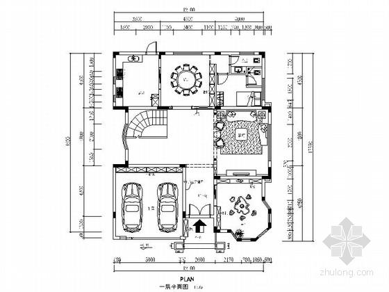 [广东]温馨现代风格两层别墅室内装修施工图(含效果)