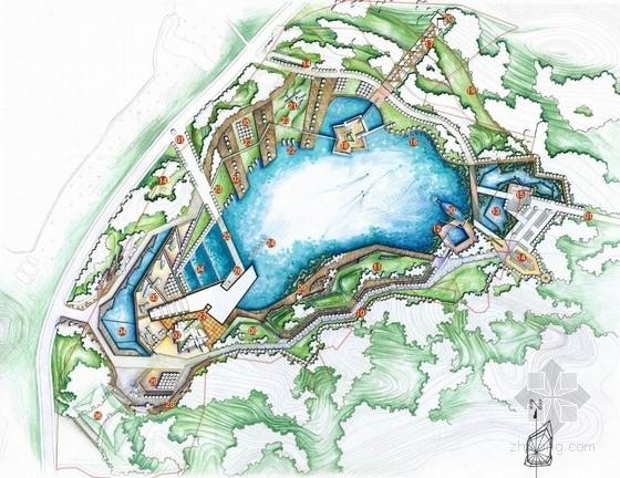 [武汉]爱国主义主题旅游核心区景观设计方案-总平面