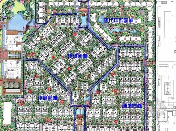 [成都]现代中式风格国奥村景观设计方案