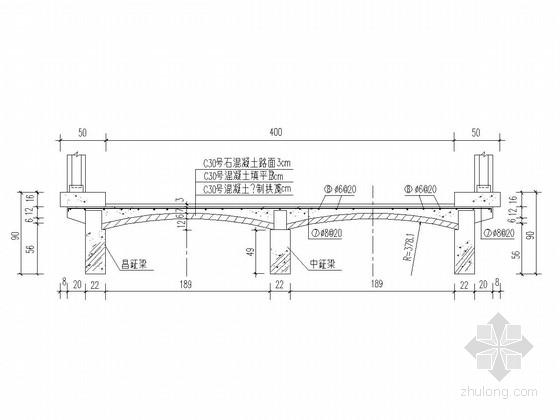 [湖北]中型水库溢洪道陡槽及堰顶交通桥工程施工图