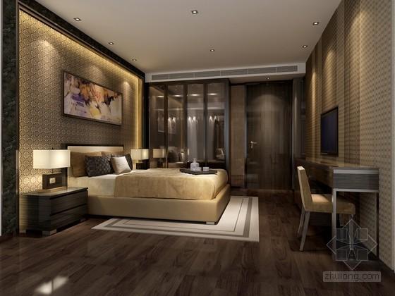 新中式卧室3D模型下载