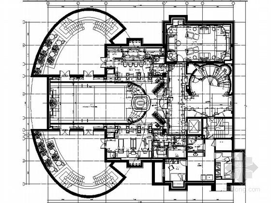 [上海]欧式豪华三层别墅室内施工图