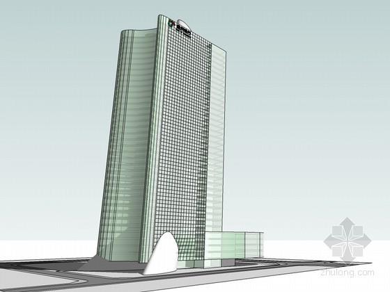 银行建筑SketchUp模型下载