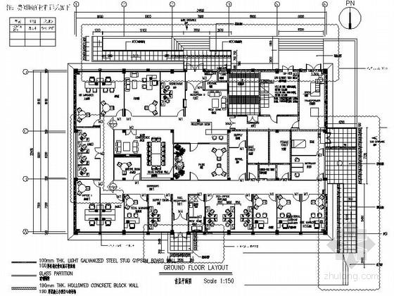 [深圳]预防性疫苗研发公司现代行政办公楼装修施工图(含效果)
