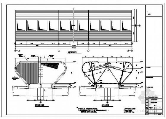 成都某厂房球形气楼钢结构设计图