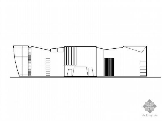 [课程设计]大学生活动中心建筑方案图(含效果图)