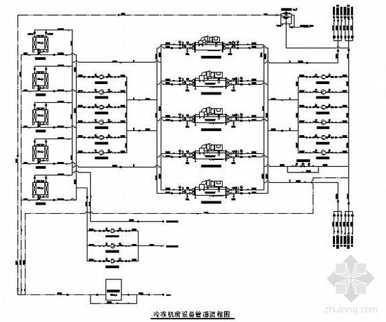 大型电子厂房空调工程图纸