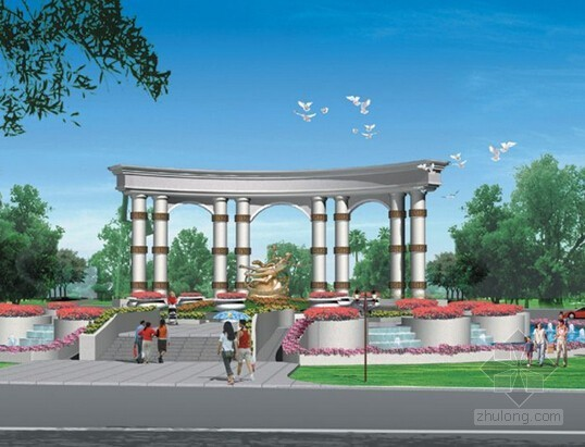 [山东]大型住宅售楼处及示范区园林景观工程结算书(结算价793万元 141页)