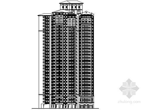 某项目三十二层小户型精装修公寓建筑方案图