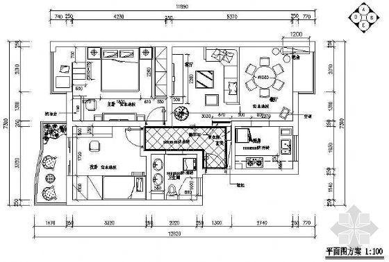 木制造型二室两厅装修图